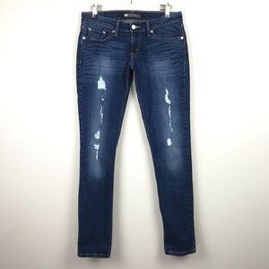 Levi's 524 Too Superlow Skinny Jeans Distressed
